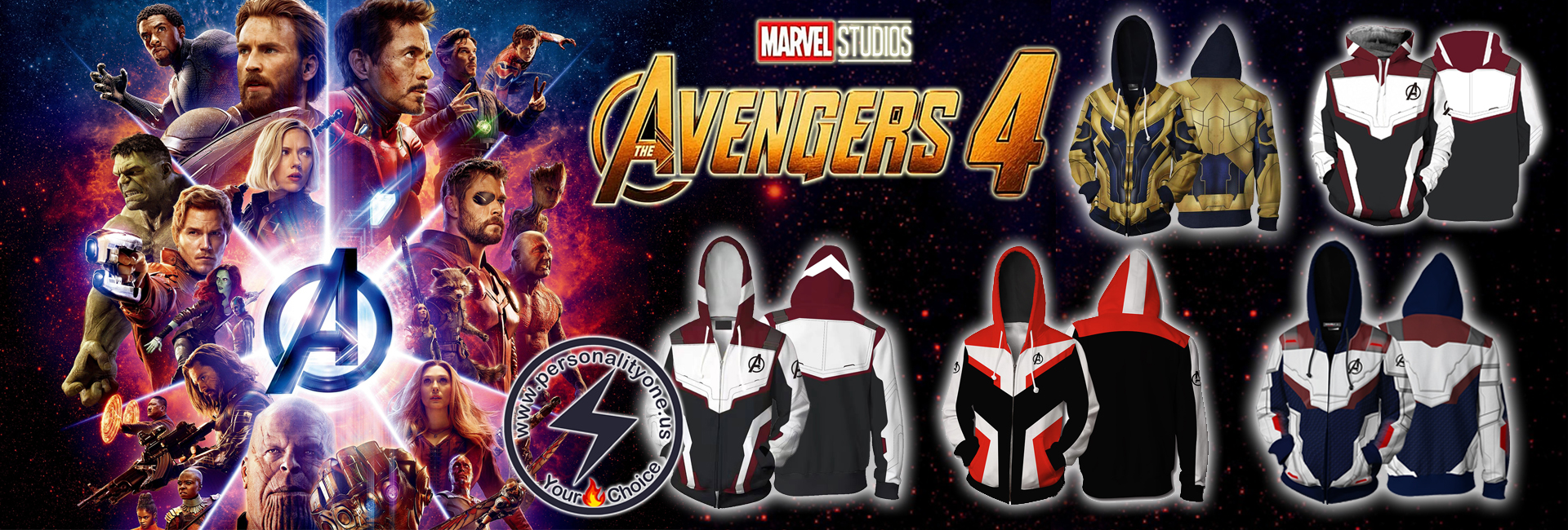 THE AVENGERS 4 AVENGERS: ENDGAME THE ADVANCED TECH SUITS WHITE SUIT COSPLAY ZIP UP HOODIE JACKET
