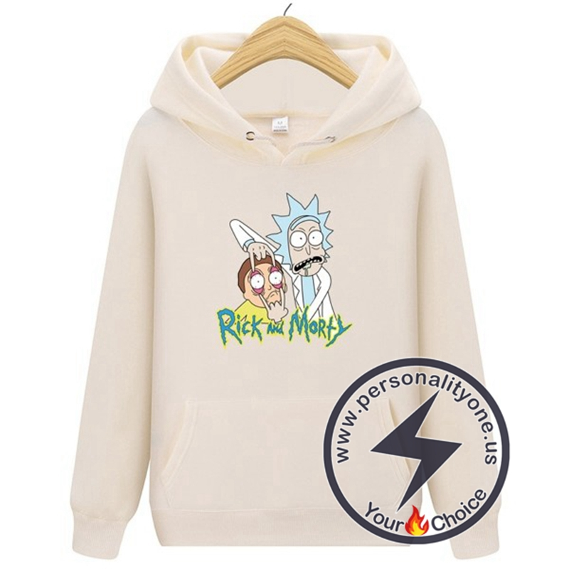 2020 Funny Rick And Morty Hoodie Beige