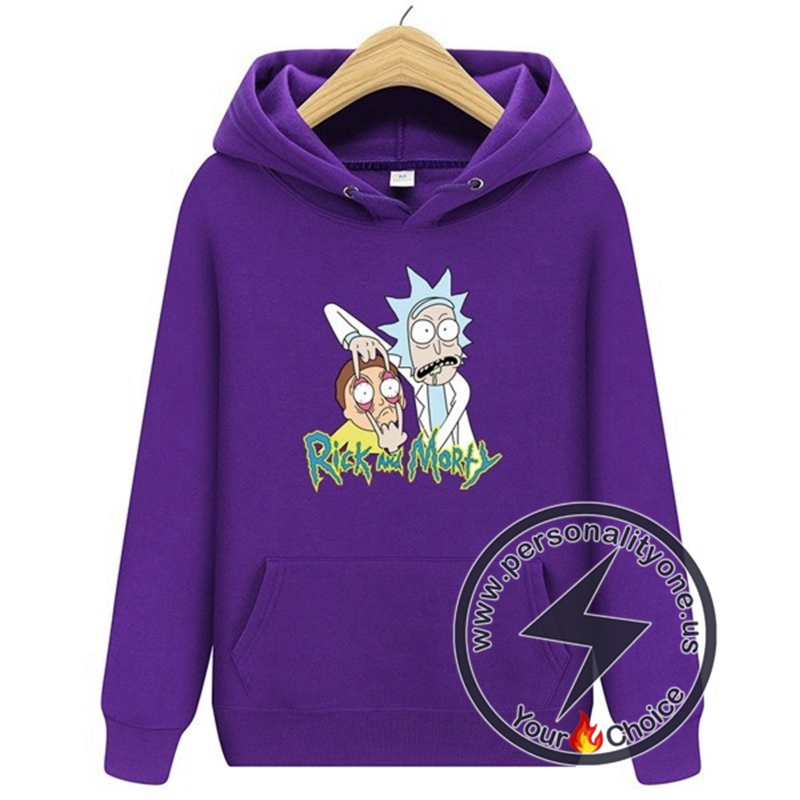 2020 Funny Rick And Morty Hoodie Purple