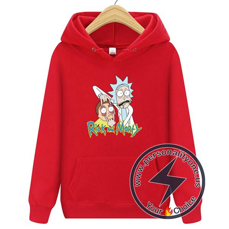 2020 Funny Rick And Morty Hoodie Red