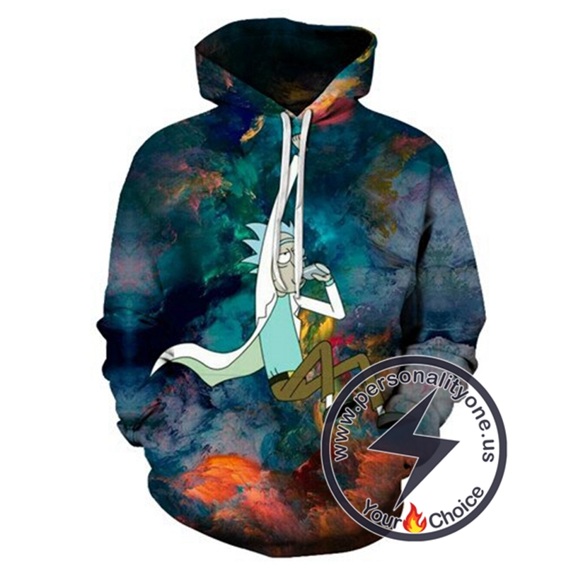 2020 Rick And Morty 3D Awesome Winter Hoodies