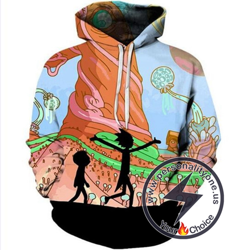 3D Printed New Rick And Morty Hoodie