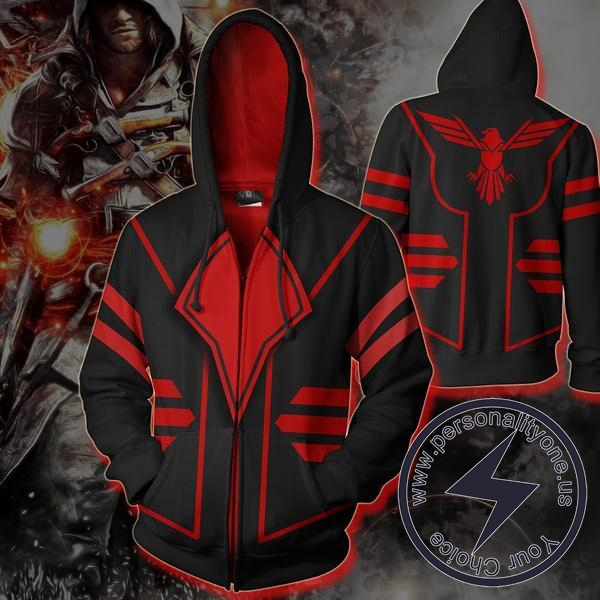 Assassin - Assassin ZipUp 3D - Assassin Hoodies Jackets