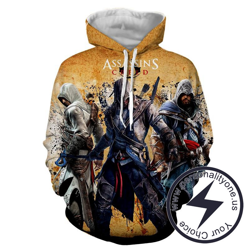 Assassin's Creed 3D - Altair Connor & Ezio - Assassin's Creed Hoodies