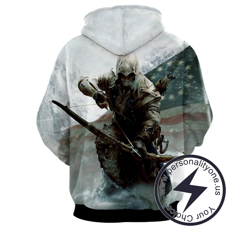 Assassin's Creed 3D - Connor - Assassin's Creed Hoodies