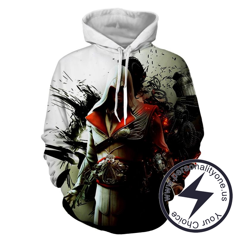 Assassin's Creed 3D - Ezio- Assassin's Creed Hoodies