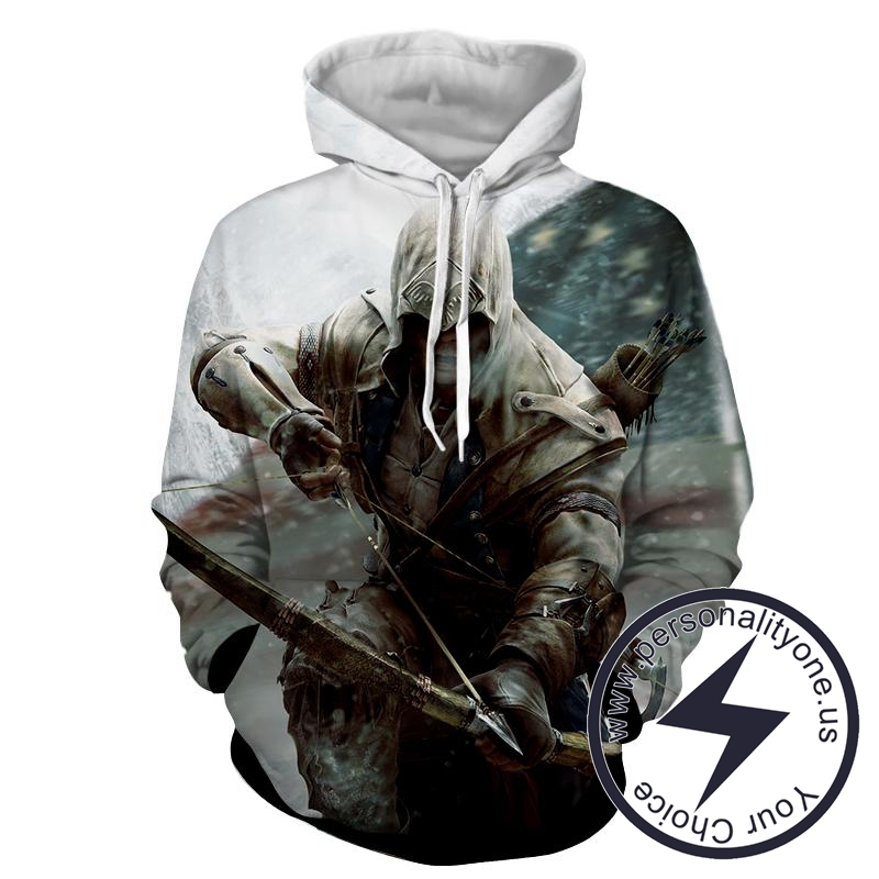 Assassin's Creed 3D -Connor - Assassin's Creed Hoodies