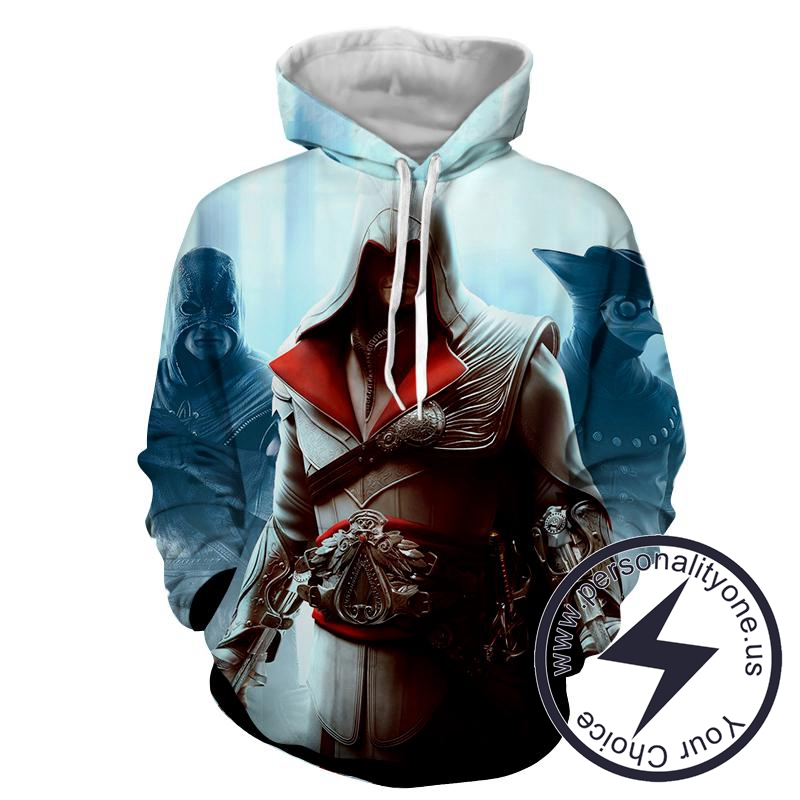 Assassin's Creed 3D -Ezio - Assassin's Creed Hoodies