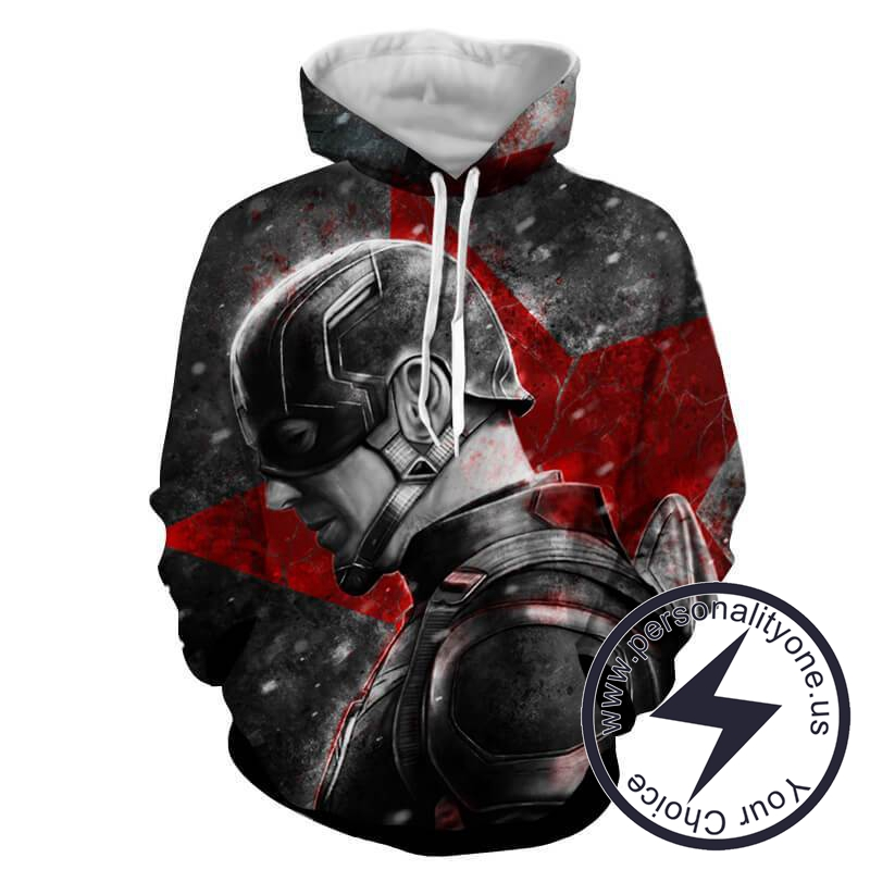 CAPTAIN AMERICA AND RED STAR 3D Hoodies - CAPTAIN AMERICA 3D