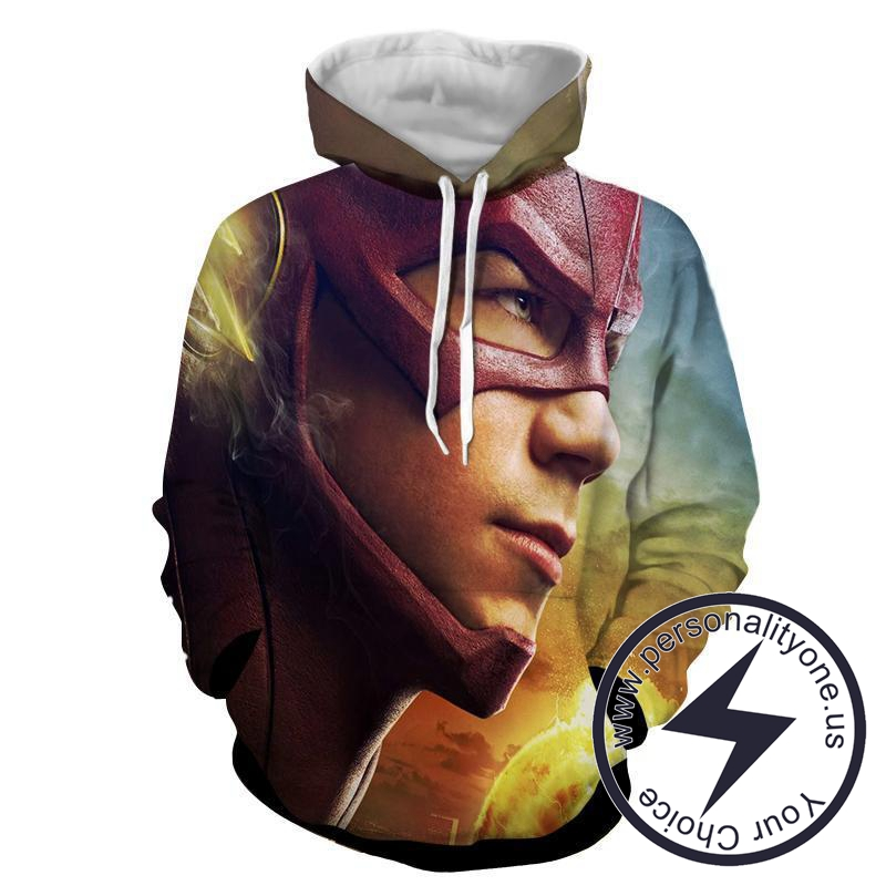 DC Flash 3D Printed - The Flash Hoodies - Star Lab