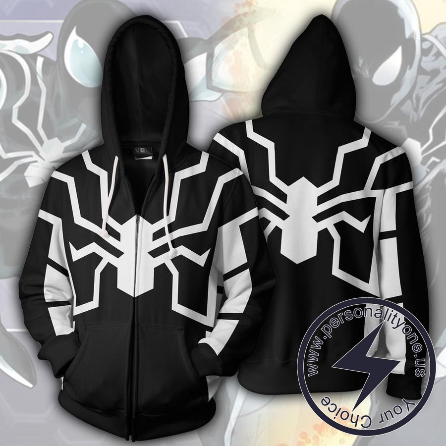 FUTURE FOUNDATION SPIDERMAN BLACK 3D Hoodies Jackets - ZIP UP - SPIDERMAN 3D