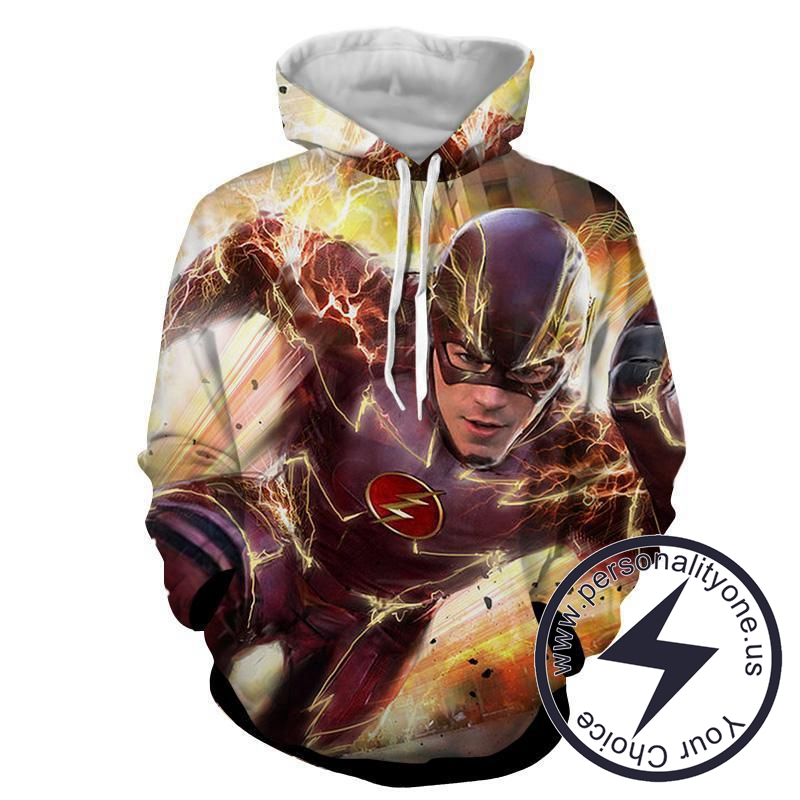 Fast Flash 3D Printed - The Flash Hoodies - Star Lab