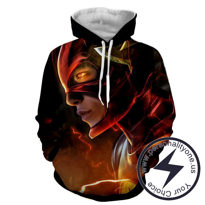 Flash 3D Printed Black - The Flash Hoodies - Star Lab