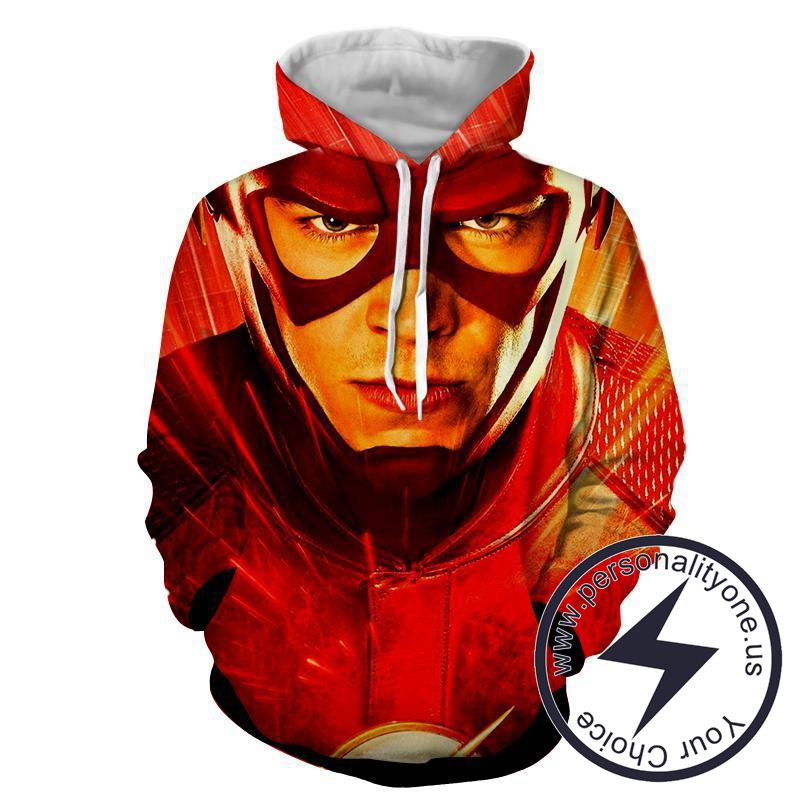 Flash 3D Printed - The Flash Hoodies - Star Lab