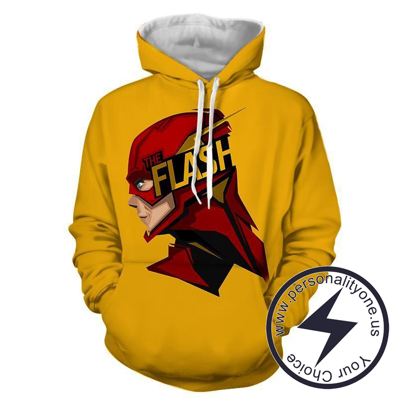 Flash 3D Printed Yellow - The Flash Hoodies - Star Lab