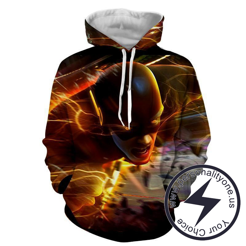 Flying Flash 3D Printed - The Flash Hoodies - Star Lab