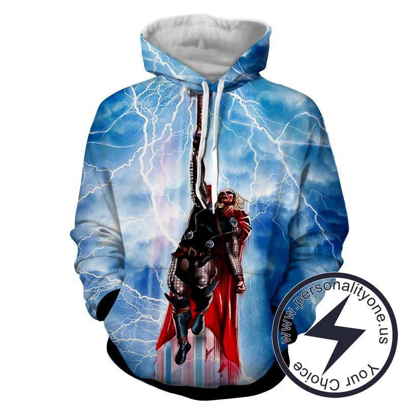Flying Thor - Thor 3D - Hoodies