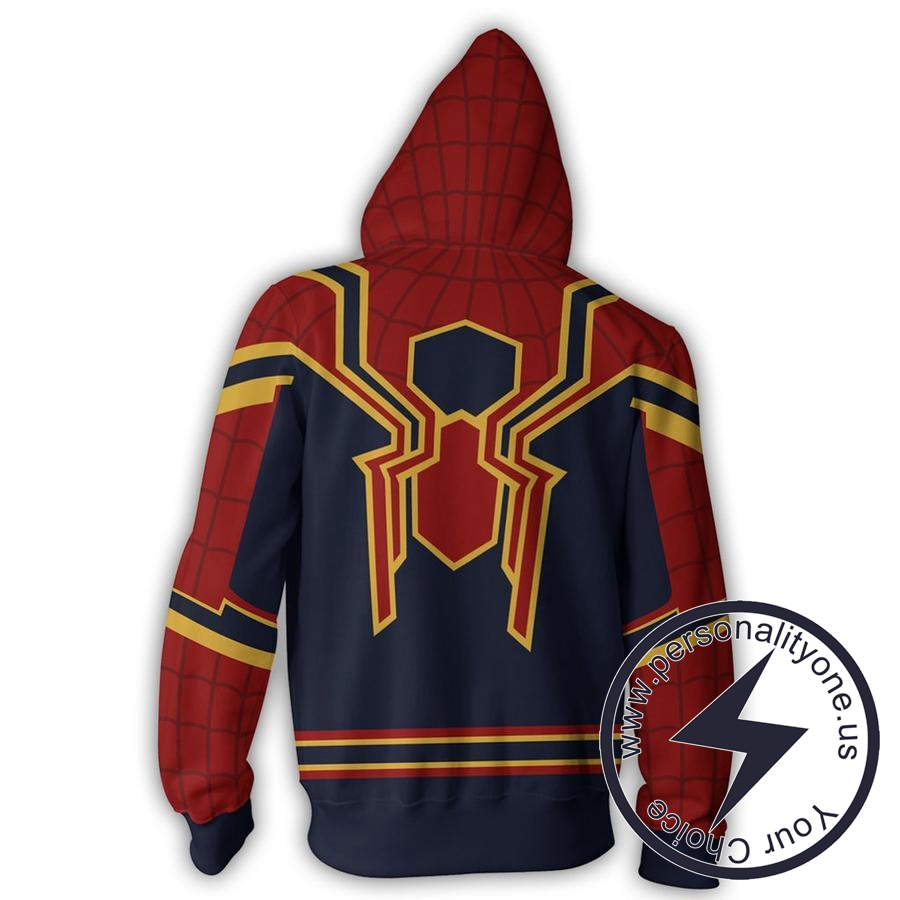 HOMECOMING IRON SPIDER 3D Hoodies Jackets - ZIP UP - SPIDERMAN 3D