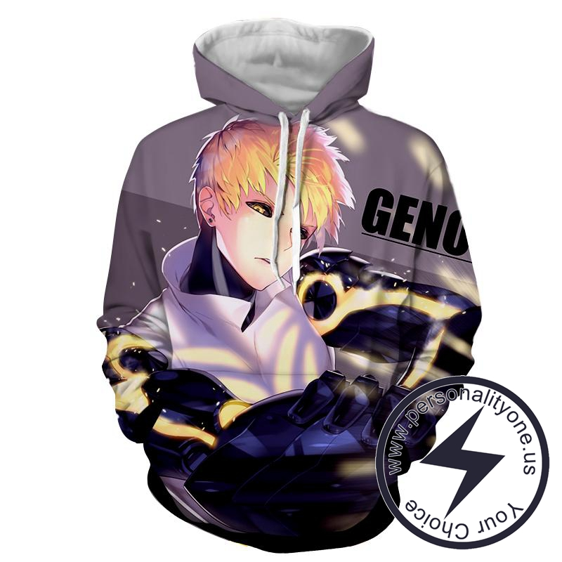 One Punch Man - Genos 3D - Hoodies
