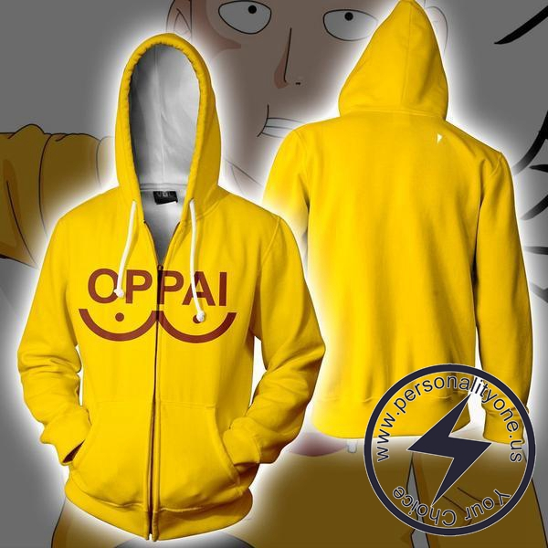 One Punch Man - Saitama ZipUp 3D - One Punch Man Hoodies Jackets