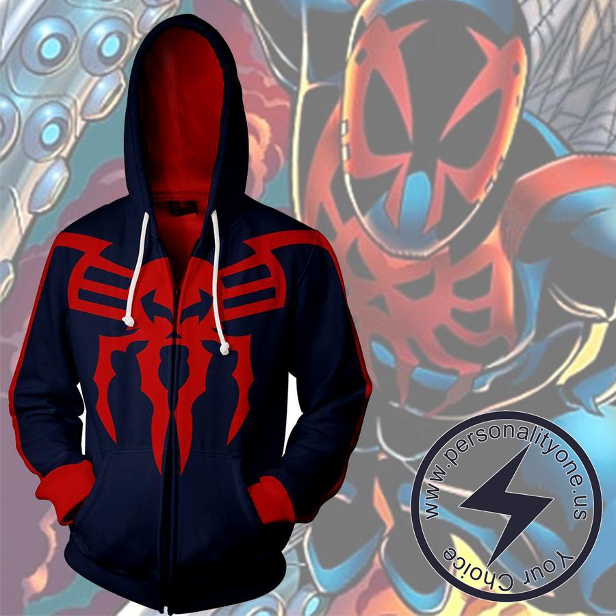 SPIDER-MAN 2099 (2) 3D Hoodies - ZIP UP - SPIDERMAN 3D