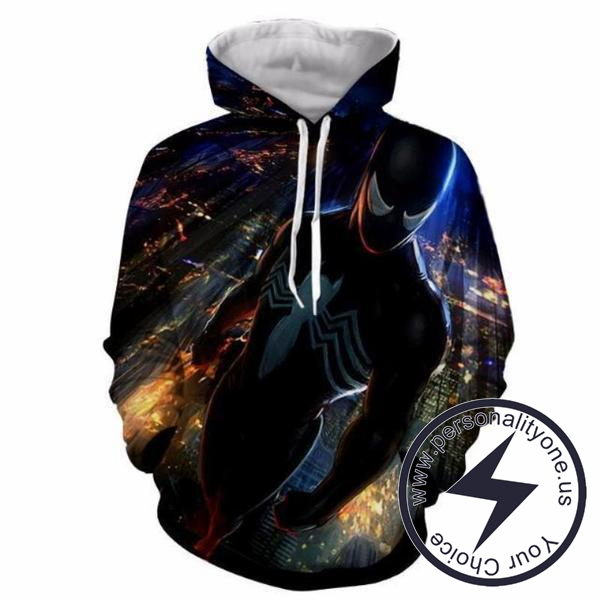 SPIDERMAN 3D Hoodies - ZIP UP - SPIDERMAN 3D