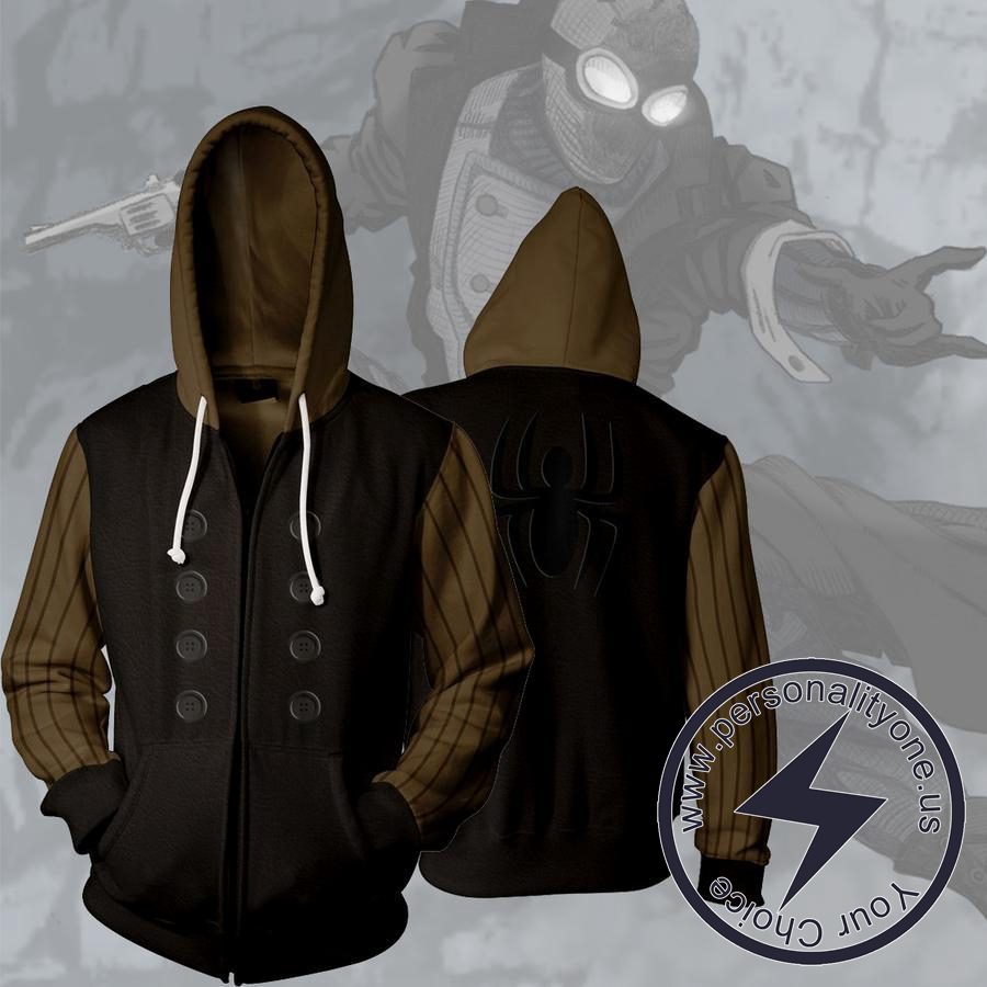 SPIDERMAN NOIR 3D Hoodies - ZIP UP - SPIDERMAN 3D