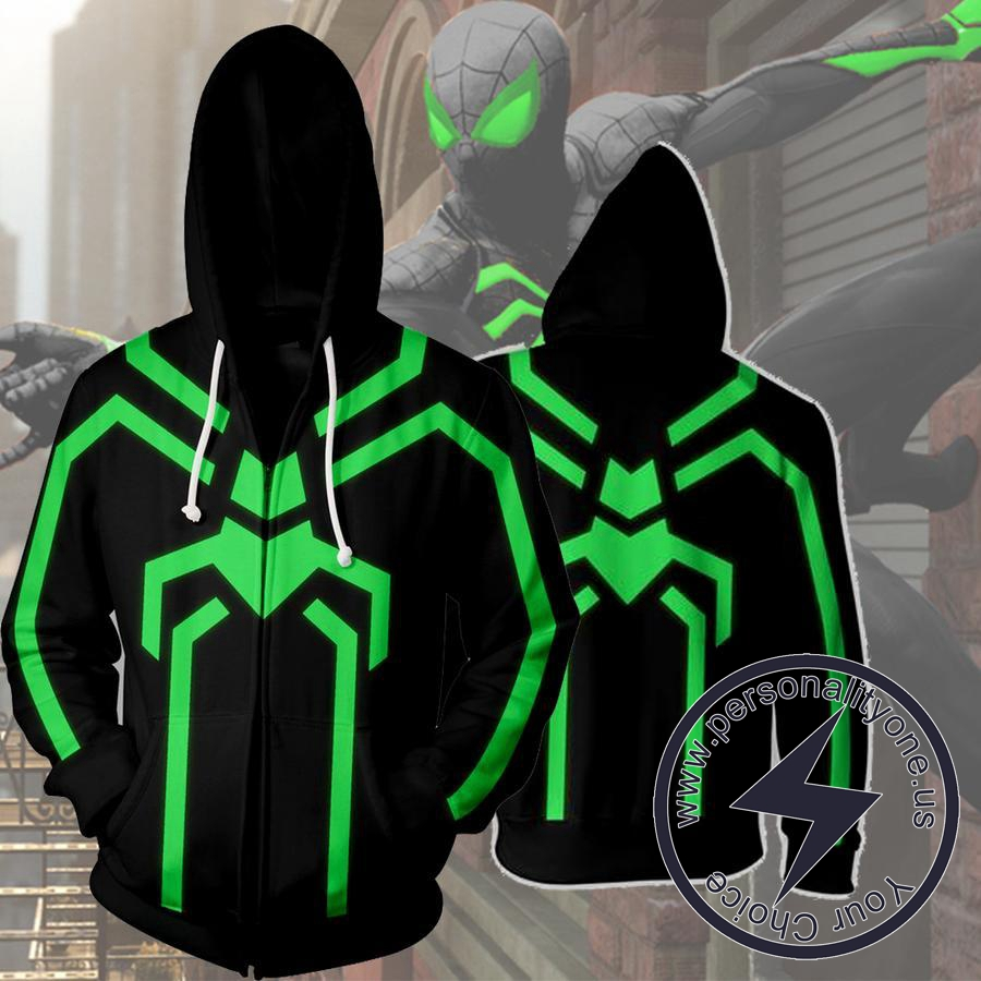 STEALTH SPIDERMAN 3D Hoodies - ZIP UP - SPIDERMAN 3D