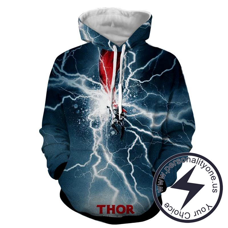 Thor Electric Attack - Thor 3D - Hoodies
