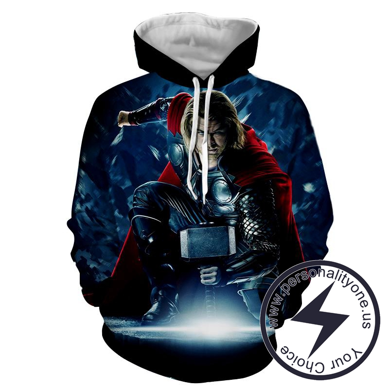 Thor in Action - Thor 3D - Hoodies