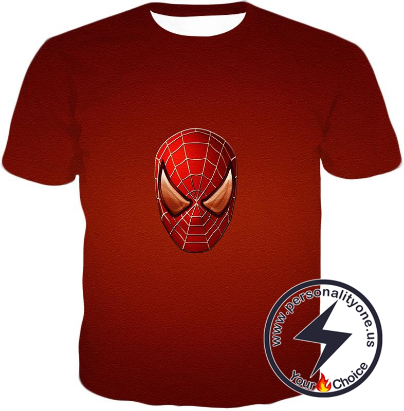 Amazing Spiderman Mask Promo Red T-Shirt