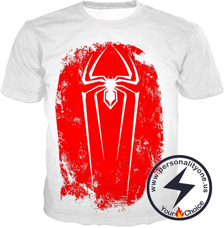 Amazing Spiderman Red Logo Promo White T-Shirt