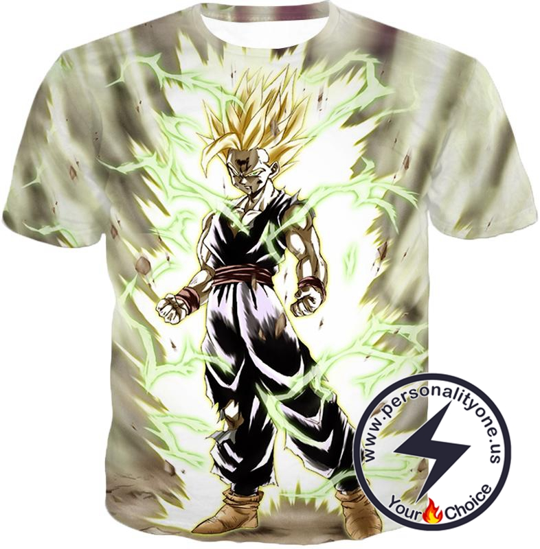 Dragon Ball Super Favourite Fighter Gohan Super Saiyan 2 Awesome Action White T-Shirt