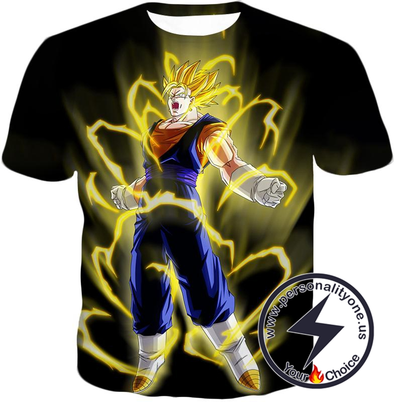 Dragon Ball Super Rising Power Super Saiyan Vegito Cool Black T-Shirt