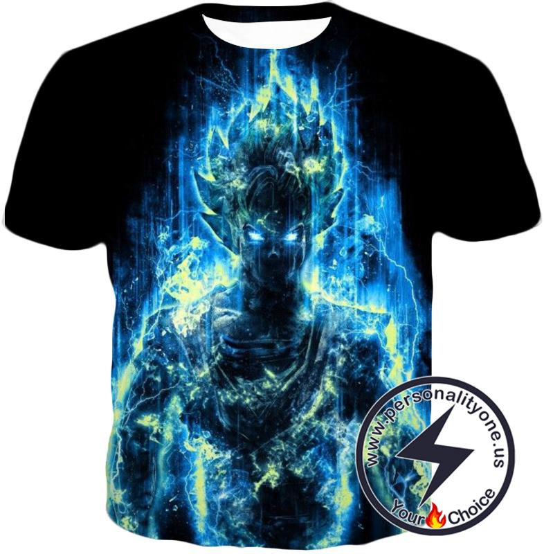 Dragon Ball Z T-Shirt - Super Saiyan Goku Blue Flash