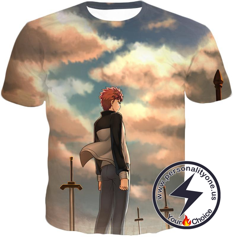 Fate Stay Night Super Cool Hero Shirou Emiya Unlimited Blade Works T-Shirt