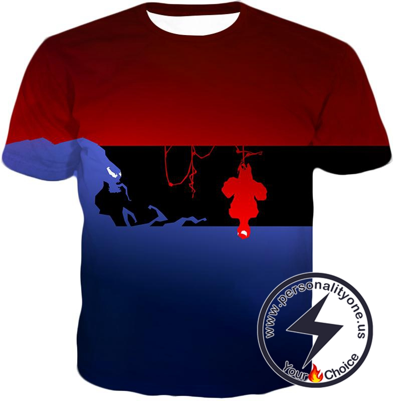 Marvels Spider-Man and Venom Animated T-Shirt