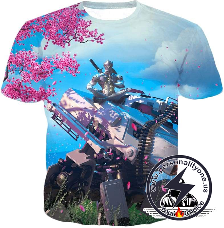 Overwatch Highly Technical Cyborg Ninja Genji T-Shirt