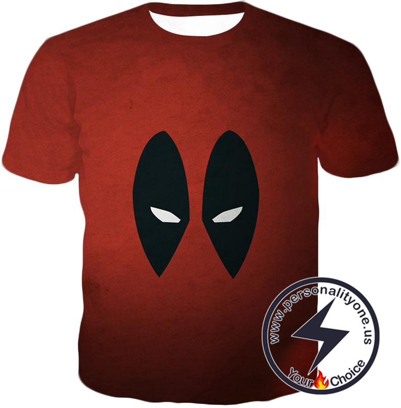 Super Cool Deadpool Eyes Promo Awesome Red T-Shirt